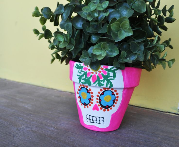 Artelexia: Day of the Dead DIY #9: Sugar Skull Planters