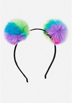 Pastel Pom Headband | Justice new do | Headbands, Cat ...