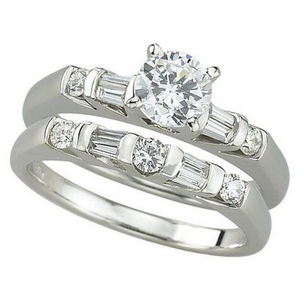 Elegant awesome white gold wedding rings women with white wedding rings for man and girl new white
