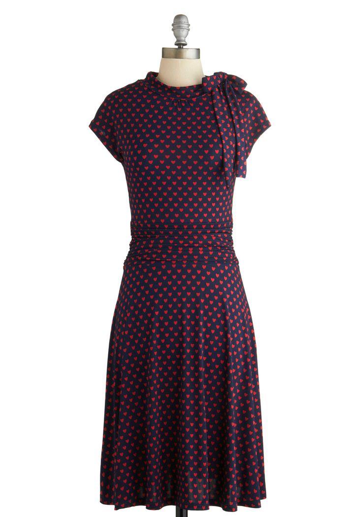 Dance Floor Date Dress in Hearts, #ModCloth