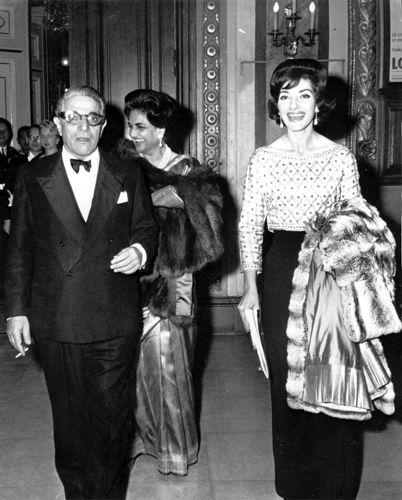 Maria Callas and Aristoteles Onassis in 1960