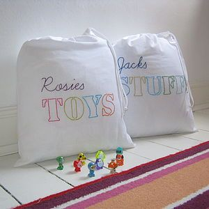 Personalised Childs Tidy Bag