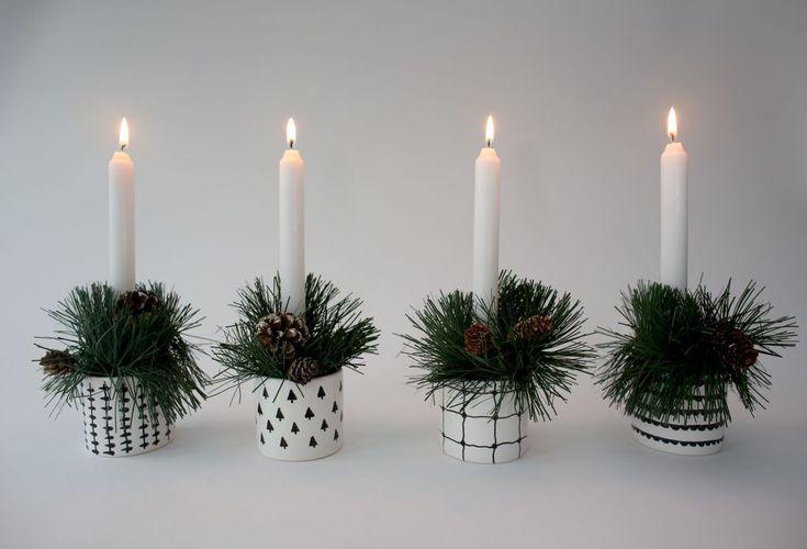 DIY Scandinavian candleholders