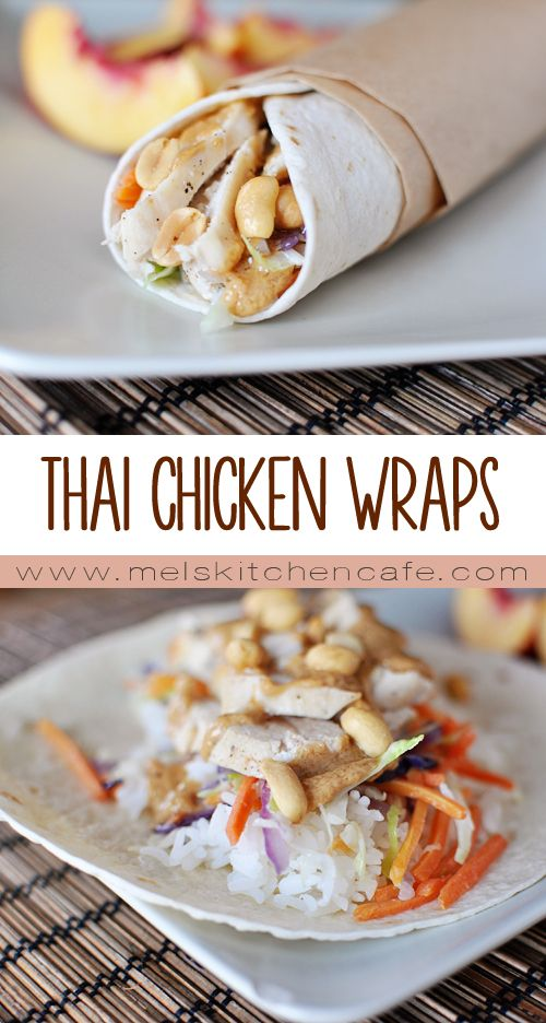 These Thai Chicken Wraps with Peanut Sauce are a perfect light dinner or lunch.