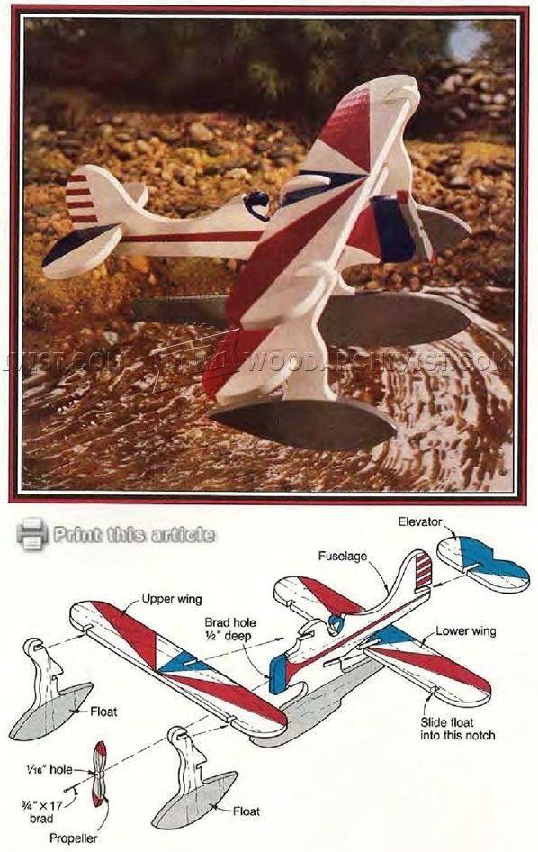 Wooden Floatplane - Children's Wooden Toy Plans and Projects | WoodArchivist.com