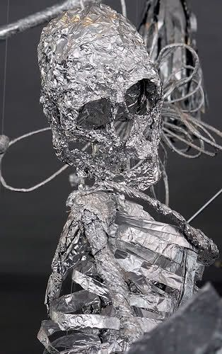 how to make a tin man out of aluminum foil