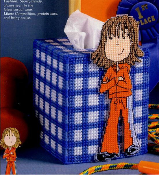 3D Cross Stitch Tissue Box Cover 1/6