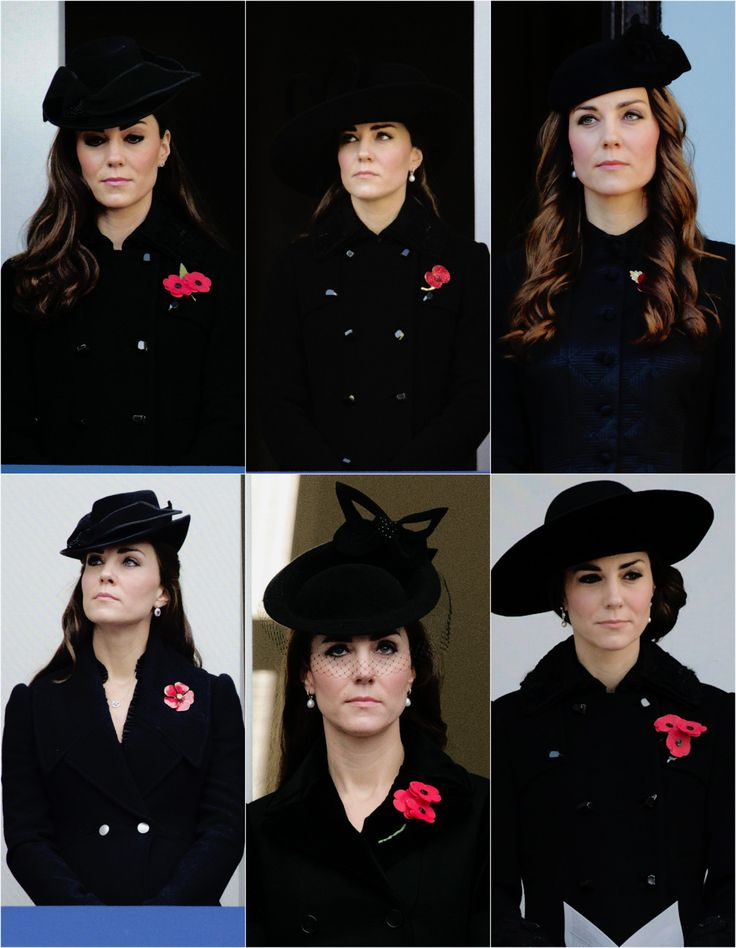 The Duchess of Cambridge attending the annual Remembrance Sunday Service through the years → 2011 - 2016.