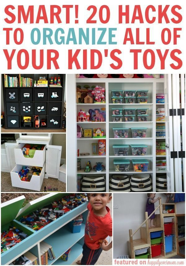 These organization hacks for kid's toys is all you'll ever need to organize everything in your house! These organization hacks are simple, but oh-so smart.
