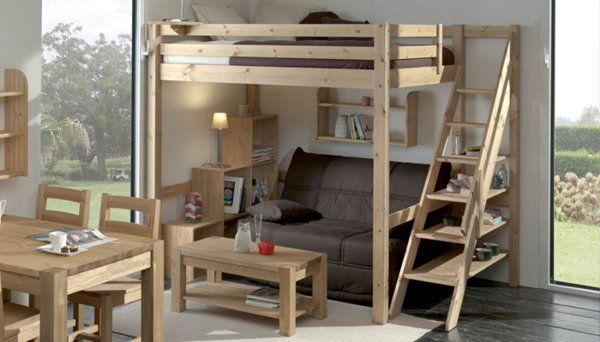 14 best lit enfant avec rangement lit mezzanine images by range ta maison on pinterest lit. Black Bedroom Furniture Sets. Home Design Ideas