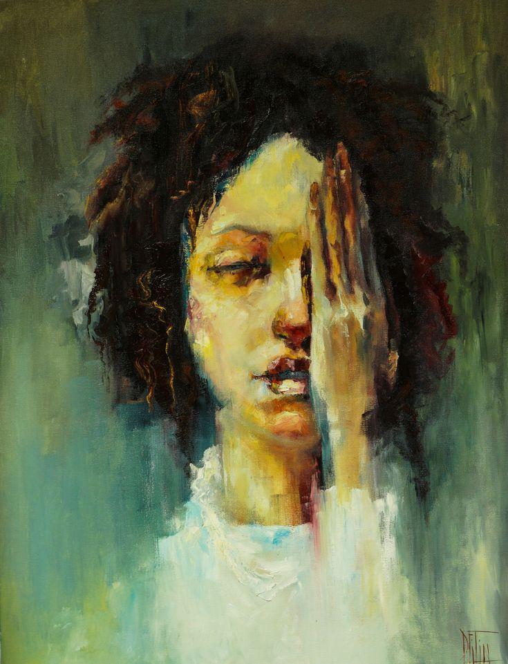 Original Female Figure 24x36 Oil Painting on Canvas