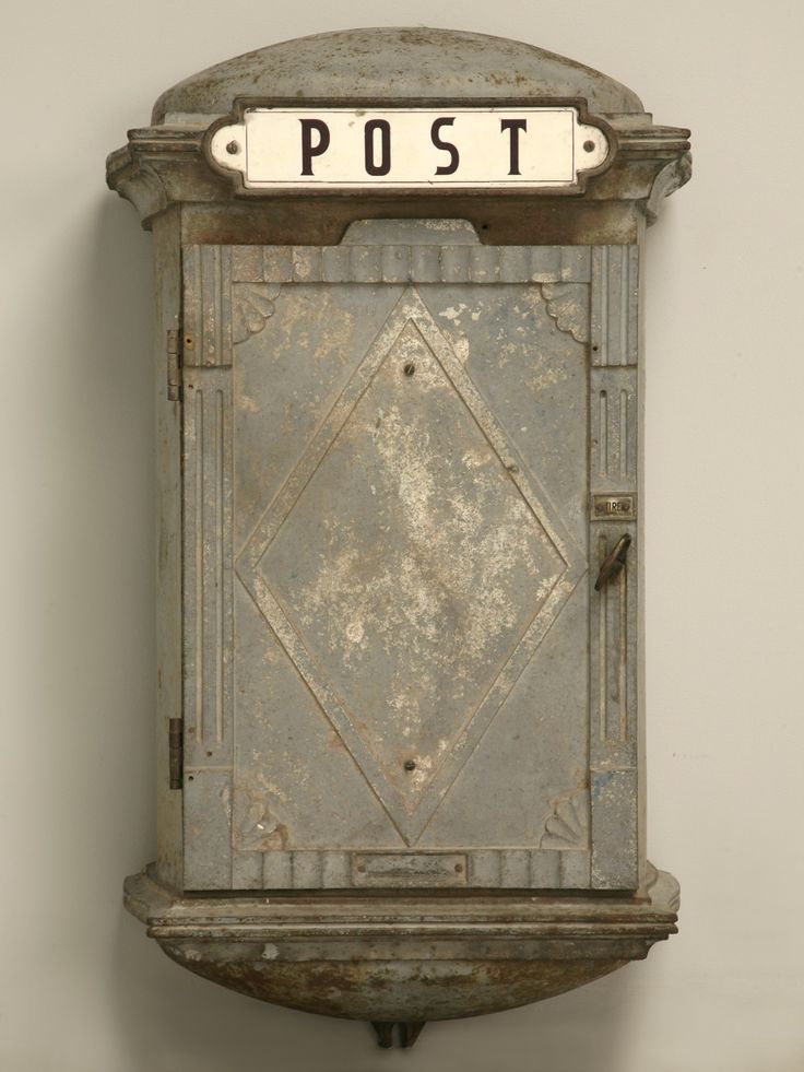 Vintage French Iron Postal or Phone Box - would make a great place to hang keys...