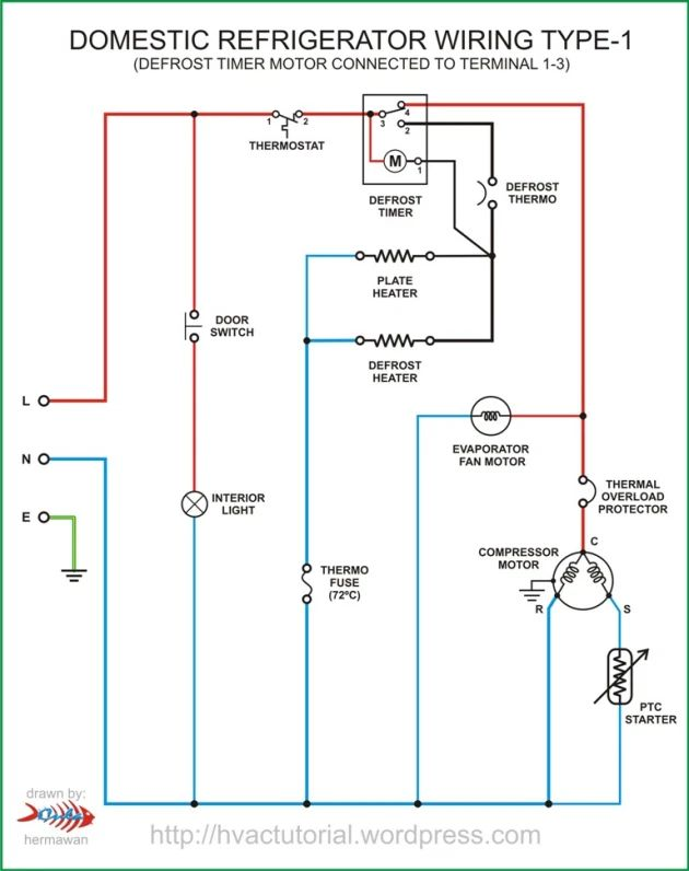Domestic Refrigerator Wiring