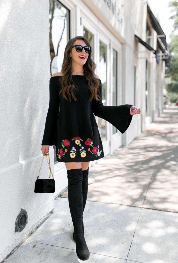 a3edddec00 Fashion And Frills style blogger wearing bell sleeve sweater from Nordstrom