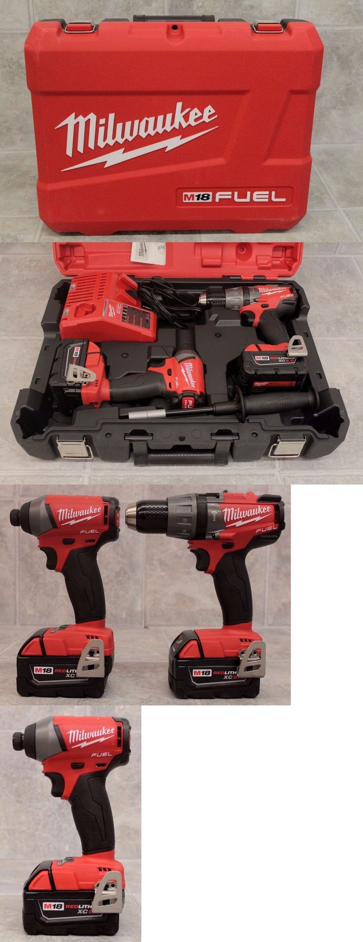 Combination Sets 177000: Milwaukee M18 2897-22 Cordless Brushless Hammer Drill Impact Driver Combo Kit -> BUY IT NOW ONLY: $250 on eBay!