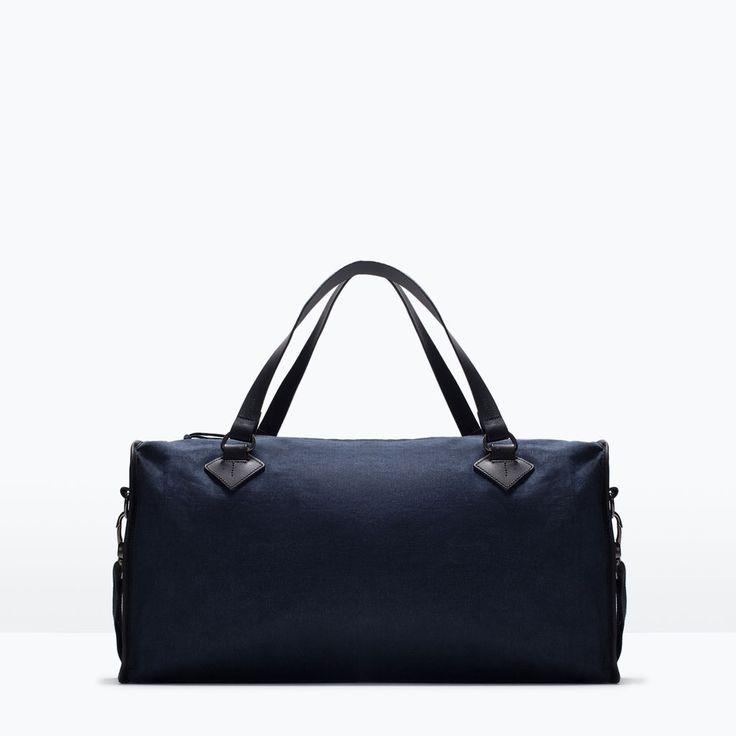 ZARA - SHOES & BAGS - CANVAS BOWLING BAG
