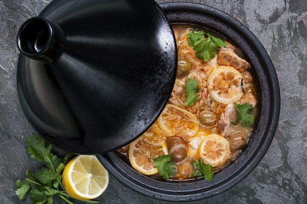 Moroccan chicken tagine with fresh figs