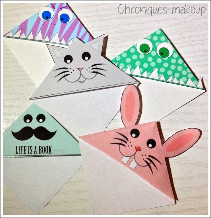 2 présentation différents marques page chat life if a book monstre à imprimer