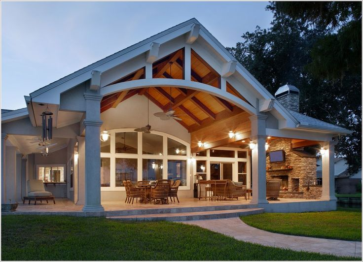 patio traditional jacksonville cane furniture cathedral ceiling ... - Covered Patio Designs