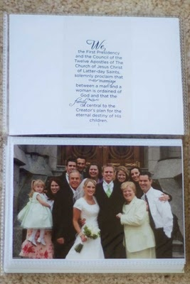 Family Proclamation Photo Book