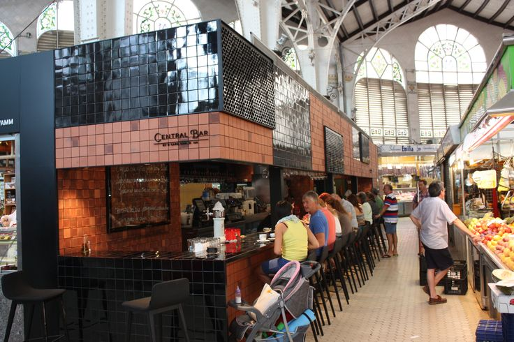 Expensive but great food in Central Bar in Valencia's Mercado Central