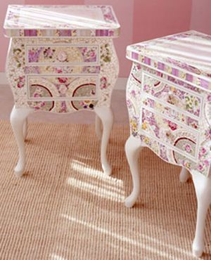 For The Dream Hous Mosaic Vintage Tile Girly Furniture