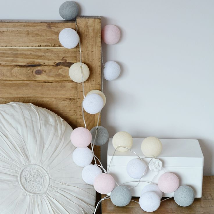 17 best ideas about cotton ball lights on pinterest ball lights string lights and bureaus - Cotton ballspractical ideas ...