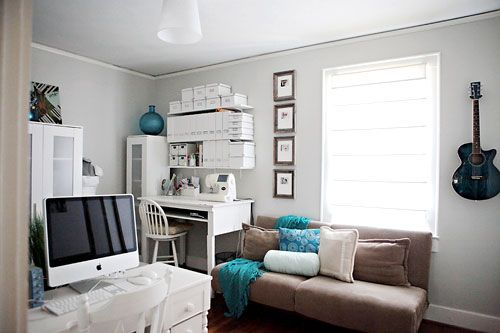 17 best images about home office spare room on pinterest for Bedroom office combo