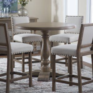 Crown 3 Piece Glass Top Counter Height Pub Table Set -