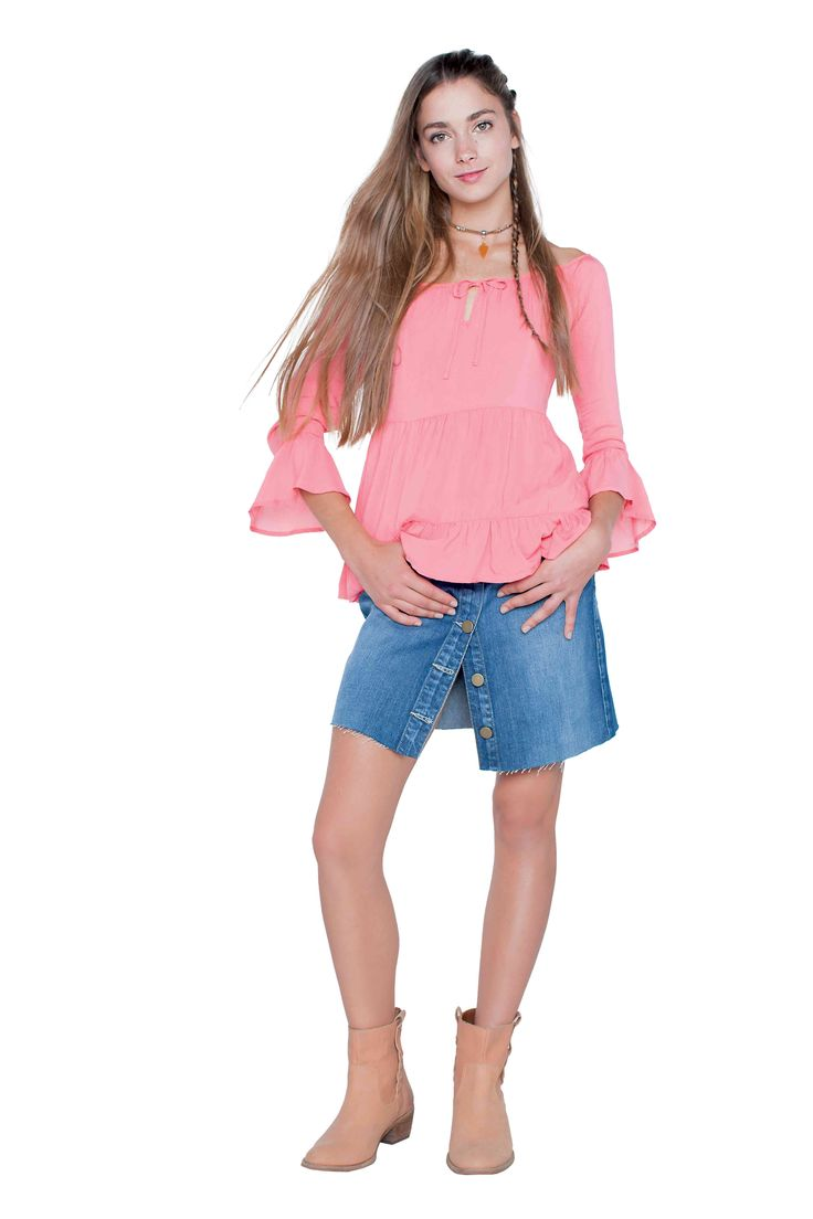 Hippie chic: mangas anchas y denim <3