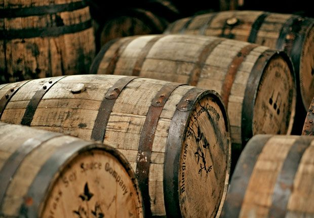 Bourbon Barrel Foods makes micro-brewed and barrel-aged soy sauce, Worcestershire sauce, marinades and sorghums, as well as barrel-smoked salt, sugar pepper and paprika once the whiskey has been drained.