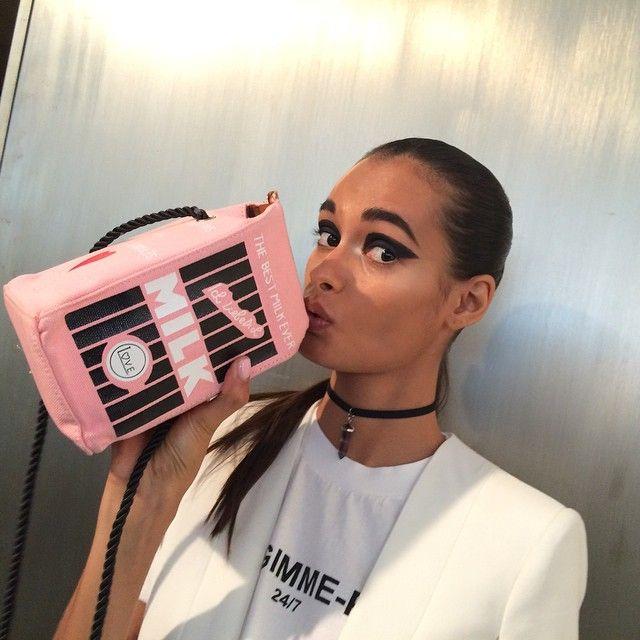 Gizele Oliveira at the New York Fashion Week Got Milk? #brazilianmodel #gizeleoliveira #ragazzomgmt #NYFW @ss15 #model #agenciaragazzo #modelsagency