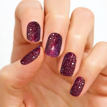 Bordeaux Glitzshimmery Deep Wine Shade Gets Taken To Next Level With Sparkling Holographic