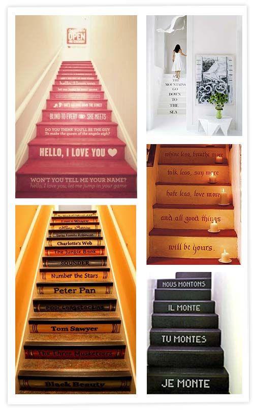 Mejores 28 im genes de escaleras con mensajes en pinterest - Escaleras para bibliotecas ...