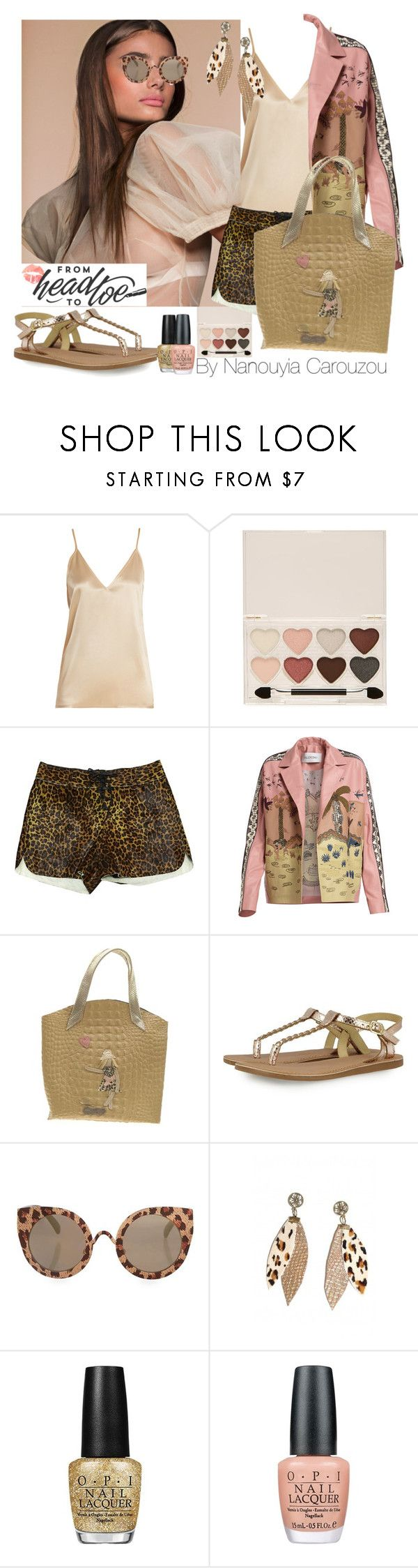 """Leopard sexy and chic girl.. love youself everyday bag"" by nanouyia on Polyvore featuring Raey, Forever 21, Diesel Black Gold, Valentino, Topshop and OPI"