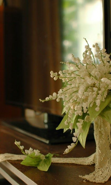 """Wedding bouquet.""""Lily of the valley"""""""
