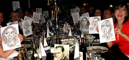 Christmas Caricaturing Parties I'll never forget #1