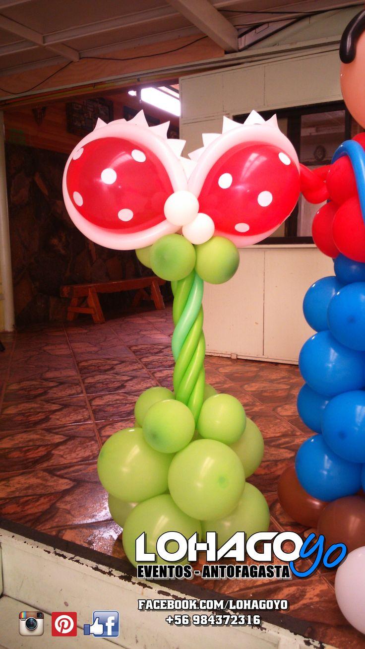 Planta carnívora para cumpleaños temática Mario Bros