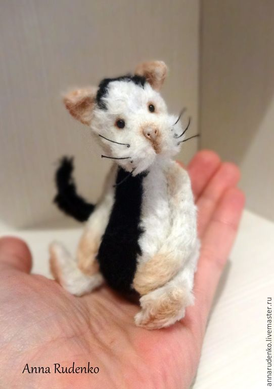 Купить кот Арчи - черно-белый, кот, котик, котенок, кот тедди, тедди кот