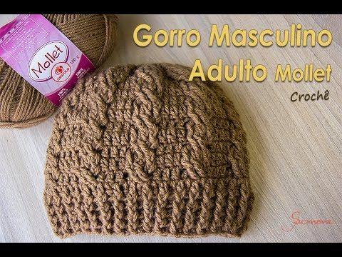 Mais um lindo Gorro / Touca de crochê Masculino Adulto, vamos fazer? confeccionei com o a lã Mollet da Círculo S/A Aqui a parte 2 : https://youtu.be/jXrYbSZK...