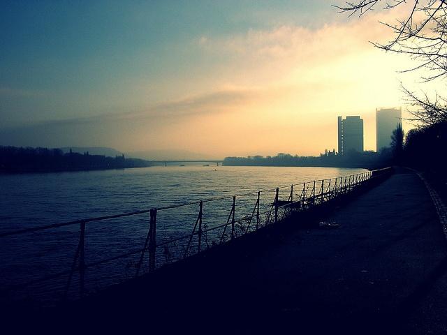 The Rhine River in Bonn, Germany