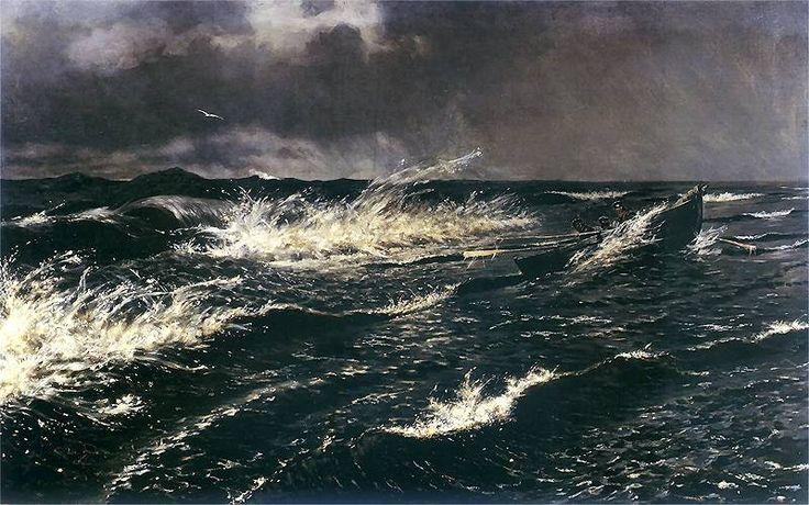 """Stanisław Witkiewicz, """"Widok Bałtyku nad Połągą"""", 1885."""