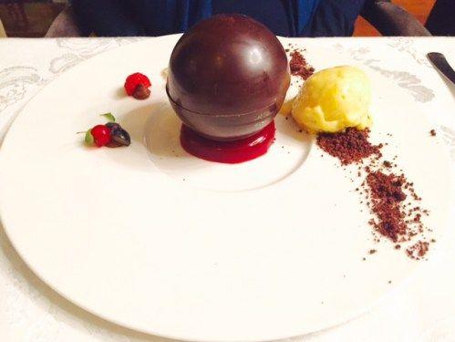 Chocolate sphere @ cezanne-by-cezar, Bucharest