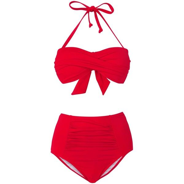 Phase Eight Ali bandeau bikini top (35 CAD) ❤ liked on Polyvore featuring swimwear, bikinis, bikini tops, swimsuits, bikini, swim, red, clearance, bandeau swim tops and swimsuit swimwear