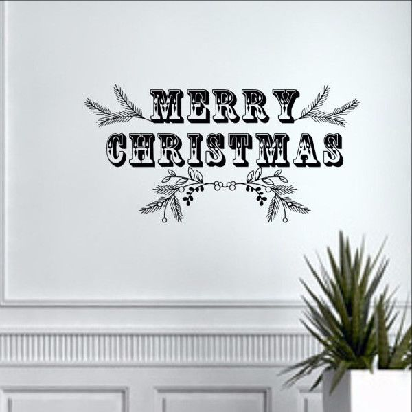 Best Christmas Vinyl Wall Decals Images On Pinterest - How to make vinyl wall decals with cricut