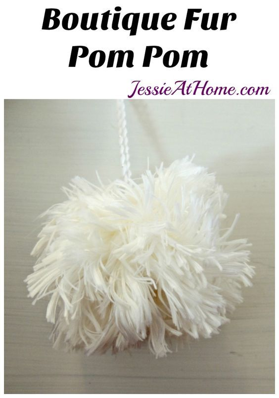 Boutique Fur Pom Pom Tutorial from Jessie At Home:
