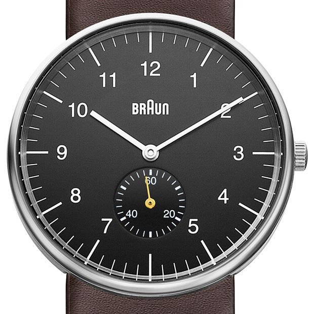Braun BN0024 (black/brown) watch by Braun. Available at Dezeen Watch Store: www.dezeenwatchstore.com
