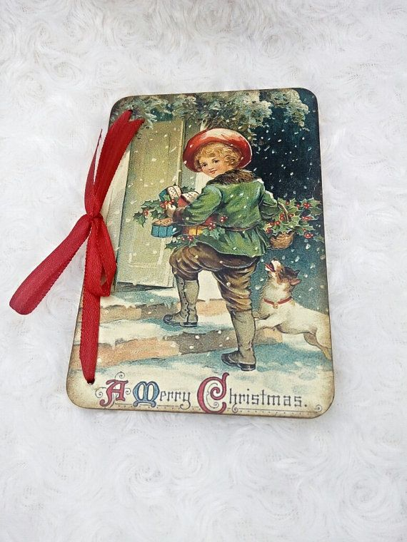 Wooden Christmas cards Greeting card Vintage style postcard Merry Christmas…