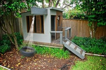 Modern Playhouse Design Ideas, Pictures, Remodel and Decor