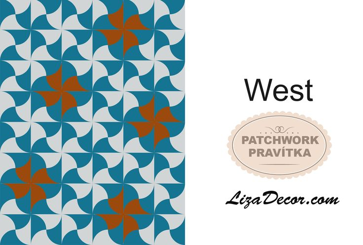 Patchworková šablona West #patchwork #lizadecor #tutorial #Clamshell #šablona #video